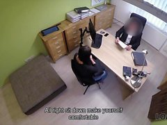 Ms. Black screwed in the office