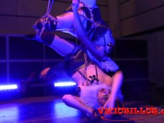 Maya Homerton y Glu Wur shibari clown en el VSF