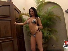 Brazilian pornstar threesome and facial