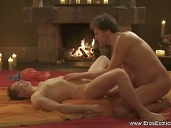 Exame erótico da massagem da próstata
