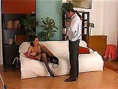 Fisting en diepe kont seks met magere