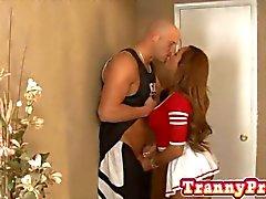 secret d'un beauté cheerleader et le Travesti Jenna révèle
