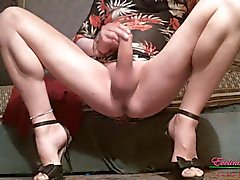 Stroking Clit Bare Legs Spread