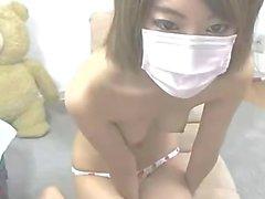 88webcam com - Japonés Masturbación Camgirl linda Traje de marinero en la webcam