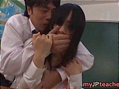 Azusa Nagasawa asyalı büyük memeli öğretmen part6