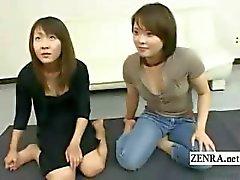 Ondertiteld Japanse amateur echte vrienden triootje strip