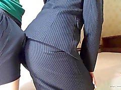 nonnude softcore clip de assjob de escritórios mulher asiática