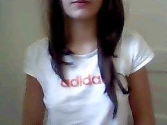 Webcam Teen Girl vingers in de badkamer