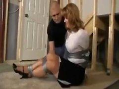 Housewife in basement