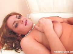 Busty babe Natasha Nice gets fucked on the couch