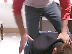 capp Str8 di college catturati del cazzo on tape