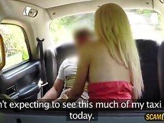 Cute blonde lady bangs new cabbie