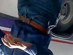 culote en legis negros parada de autobús 2