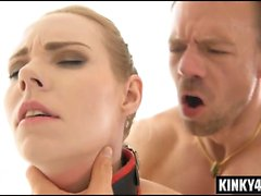 Big tits submissive bdsm and cum in mouth