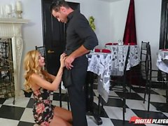 DP Star 3 - Tall Stunning Blonde Alexa Grace Deep Throat Blowjob