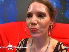 Queen Of Goo Viktoria Sharing Cum With her Sexy Friends - German Goo Girls