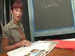 Nätt TS lärare suger och körd av elev