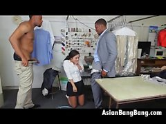 Temizleyiciler Asya Güzeli Mila Jade emme İki Karanlık Dinks