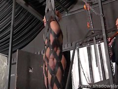 Bizarre bondage and amateur spanking of whipped amateur slave girl Lexy