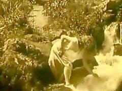 Vintage Erotik Film 7 - Waterfall 1920'de Nude Girl