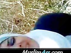 Islâmico Arábico Dama de Branco de Hijab é uma merda sagrada 3 de polegada Pênis Árabes