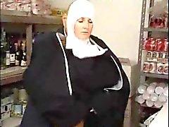 Italiano Nun Latina em foda Erotic uniforme por velho sujo
