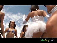 Gang Bang brazilian su di yacht parti