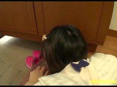 Ozak Nonoka Jav adolescente follada en Entre Puertas del elevador en el piso