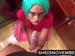 Ebony Big Tits Step Sister Msnovember Give Blowjob & Sex POV