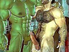 Homosexuell Muskel 3D -Fantasie! - dezlutcom