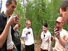 Gruppensex im Wald