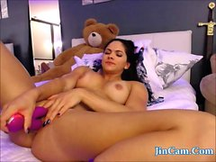 Webcam kunto tyttö masturboi vibrator