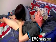 Two studs with emo style go home and take their cocks out
