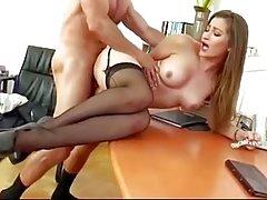 sexy secretário Creampie