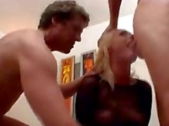 Melissa Lauren gets fucked by two angry men hardcore style