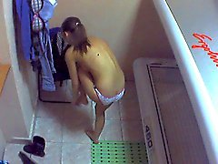 Voyeur webcam nude girl in solarium part22