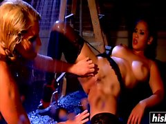 Hot wet lesbians have fun together