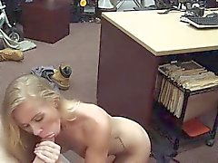 College blonde Blowjob Dreier und Blowjob Handjob Finish
