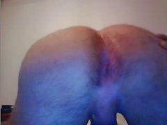 Portugal , Str8 Мальчик с очень большими пузырьковой задницу , Гидромассажная хуй в Cam