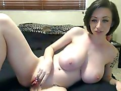 Nichons impressionnant de sexy girl bande sans spectacle