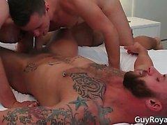 3some gays asombroso con espárragos calientes part6