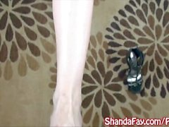 Procace Domestiche Shanda ha Fay Indica Masturbazione con !