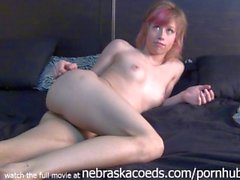 hot highschool student doing first porn in her parents basement real fresh
