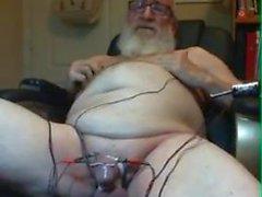Morfar Electrocum på webbkamera