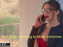 Italian hottie Valentina Nappi rides a big black dick interracial