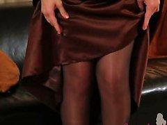 Black pantyhose and ultra hot stocking