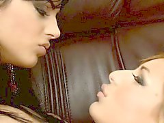 Angelica Black and Jennifer Love undress and lick each