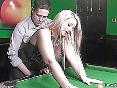 Sexy Dicke Frauen gf in den Strümpfen Reiten seinen Schwanz zu