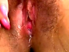 Wet pussy has massive orgasm