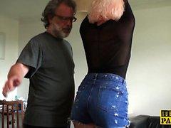 BDSM euros palmada y golpeó durante roughsex
